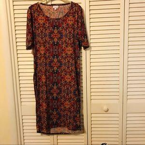 LulaRoe multicolor dress